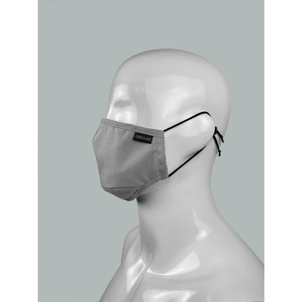 Mouth and nose mask Reusable grey, harmaa